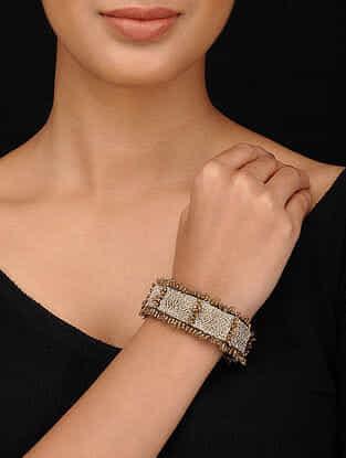 Gold Tone Embroidered Bracelet