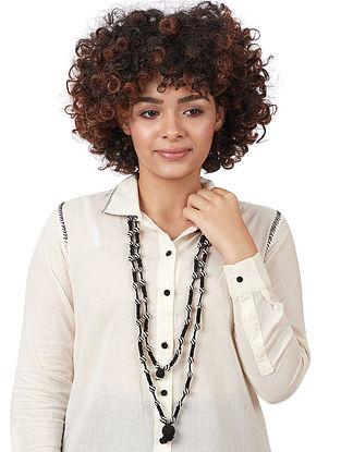 Black-White Silk Necklace
