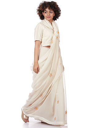 Natural Printed Silk-Cotton Saree