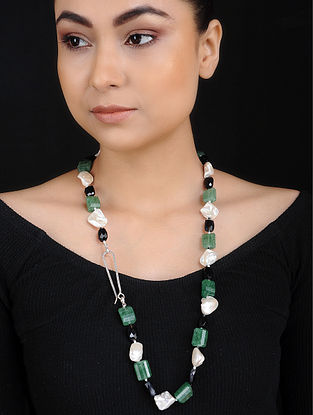Baroque Pearl and Black Onyx Beaded Necklace