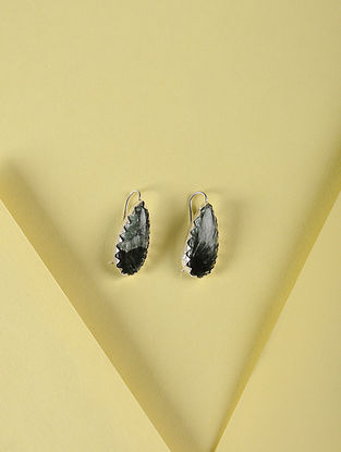 Serpentine Silver Earrings