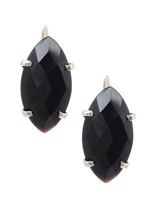 Black Onyx Silver Stud Earrings