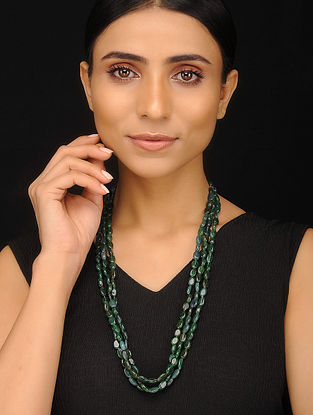 Green Aventurine Beaded Silver Necklace