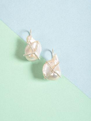 Baroque Pearl Silver Earrings