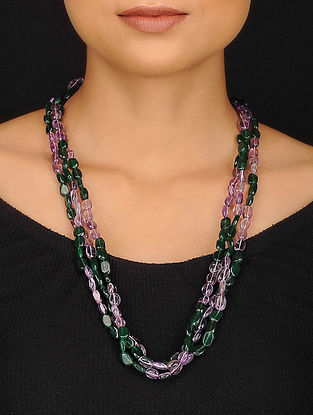 Aventurine and Amethyst Beaded Necklace