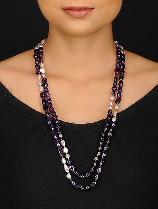 Baroque Pearl and Amethyst Beaded Necklace