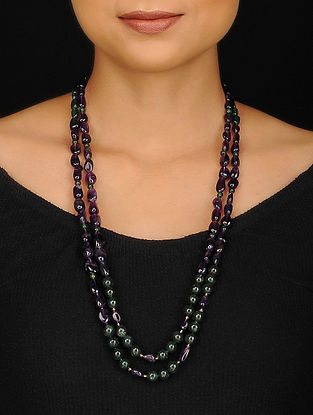 Amethyst and Aventurine Beaded Necklace