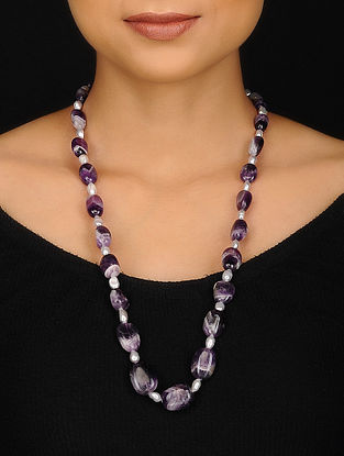 Amethyst and Pearl Beaded Necklace