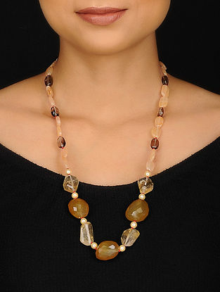 Calci and Citrine Beaded Necklace