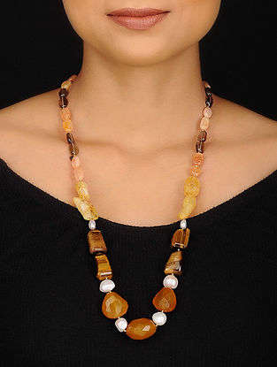Calci and Tigers Eye Beaded Necklace