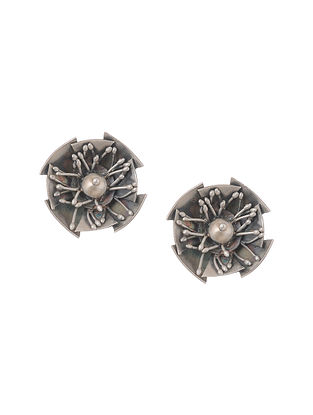 Tribal Silver Stud Earrings