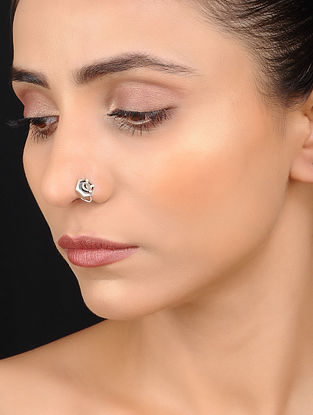 Tribal Silver Nose Pin