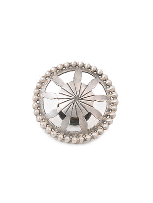 Tribal Silver Kurta Button