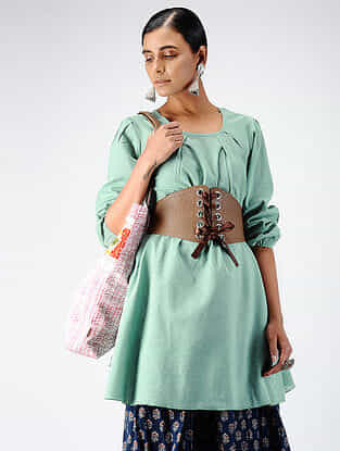 Green Cotton Dobby Tunic