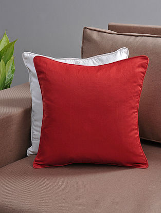 Red Cushion Cover with Cotton Lining