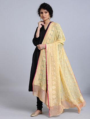 Yellow Handloom Benarasi Chiffon Dupatta