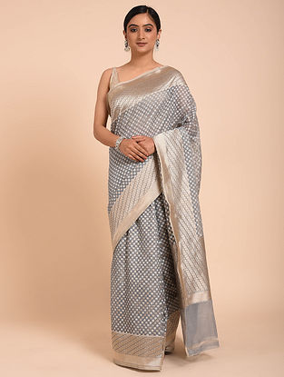 Grey Handwoven Cotton Saree