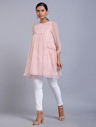 Pale Pink Handwoven Cotton Kota Doria Tunic