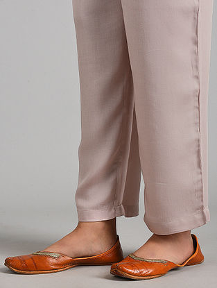 Pink Essential Modal Satin Pants