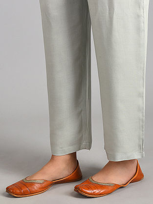 Green Essential Modal Satin Pants