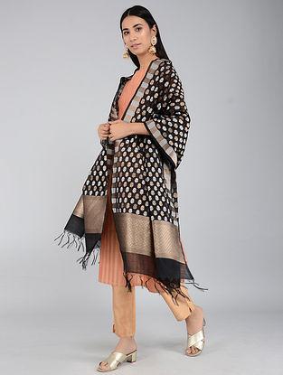 Black Benarasi Cotton Silk Dupatta
