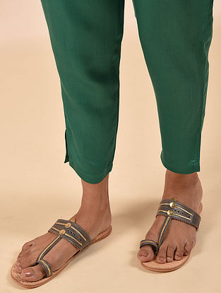 Green Elasticated Waist Modal Pant