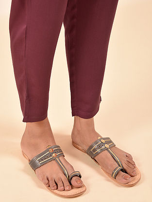 Red Elasticated Waist Modal Pant