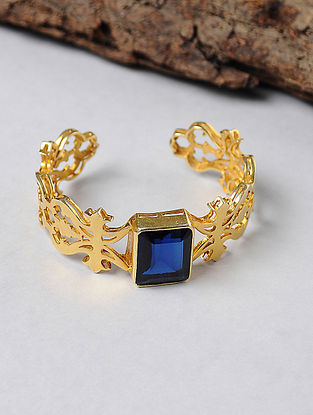 Blue Gold-plated Silver Cuff