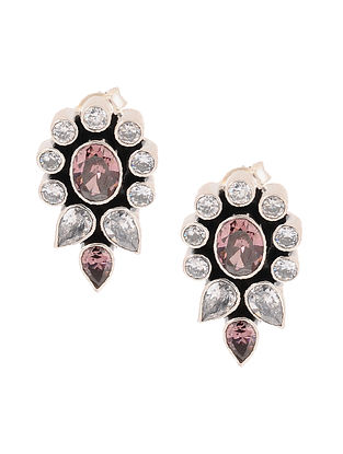 Rhodolite Silver Earrings