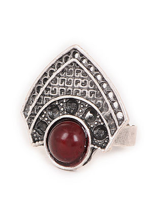 Red Tone Adjustable Tribal Ring