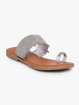 Sliver Handcrafted Leather Flats