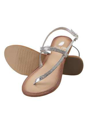 Silver Handcrafted Leather Sandals