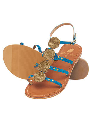 Turquoise Handcrafted Leather Sandals