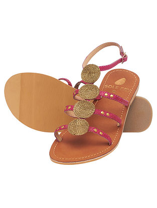 Fuchsia Handcrafted Leather Sandals