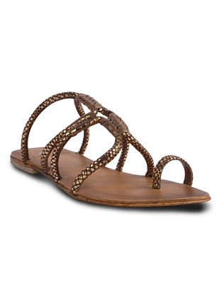 Bronze Handcrafted Leather Flats