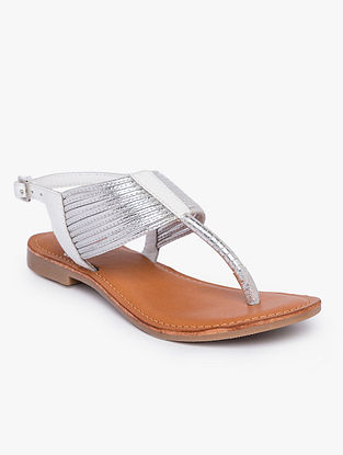 White Handcrafted Leather Flats