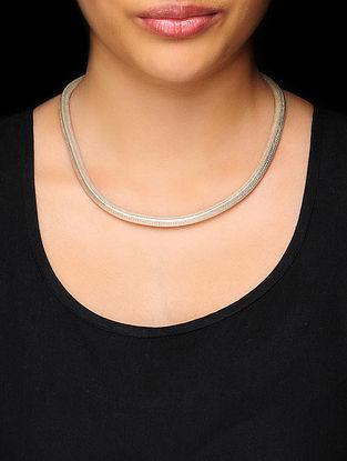 Classic Silver Heera Kanti Necklace