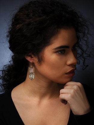 Rose Quartz Stone Earrings