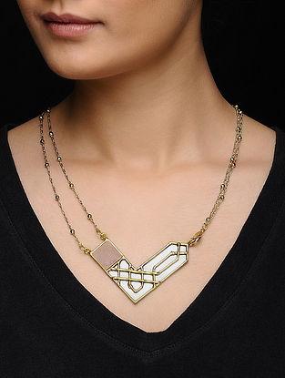 Rose Quartz Gold Tone Necklace
