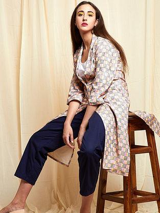 Multicolored Block-printed Khadi Cotton Jacket