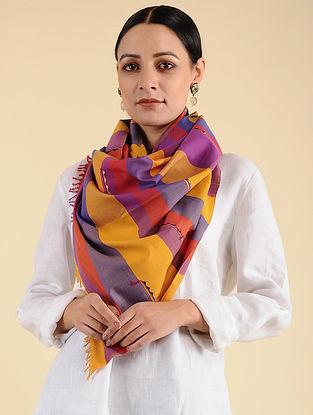 Multicolored Pakko Embroidered Cotton Stole