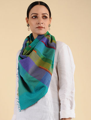 Multicolored Pakko Embroidered Cotton Stole