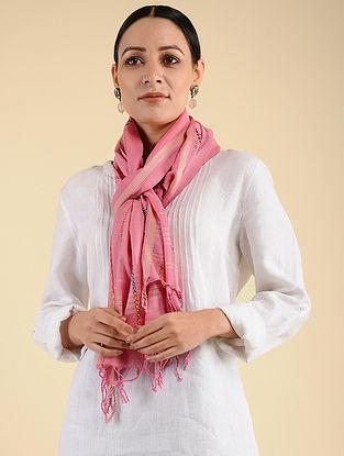 Pink Pakko Embroidered Maheshwari Stole