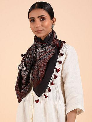 Black-Brown Ajrakh Cotton Stole