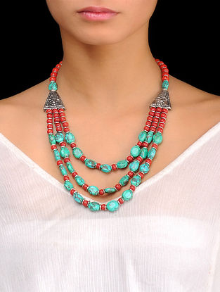 Coral-Red Turquoise Necklace