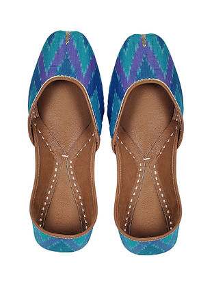 Blue Handcrafted Cotton Jutti