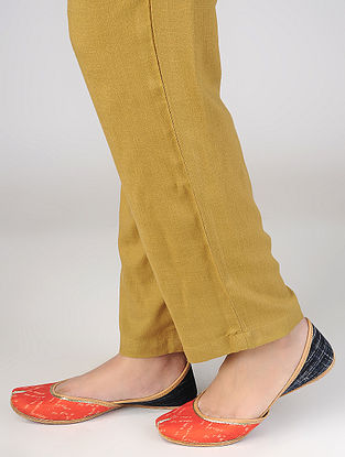 Orange-Indigo Handcrafted Cotton Juttis