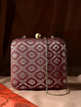 Multicolored Handcrafted Vintage Benarasi Silk Brocade Clutch