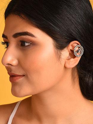 Tribal Silver Clip-On Ear Cuffs