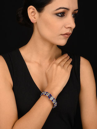 Blue Silver Tone Bracelet